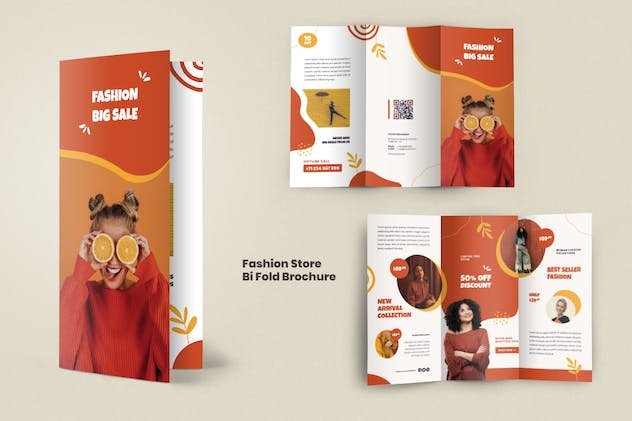 Fashion Trifold Brochure - product preview 4