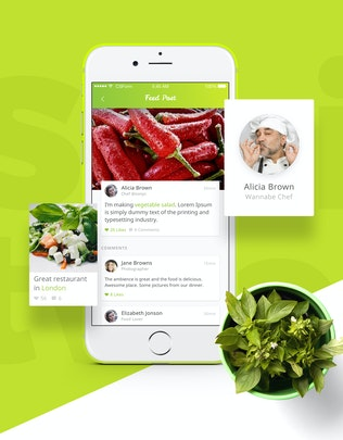 Thumbnail for Food UI Kit - Restaurant, Recipe, Shop, Social