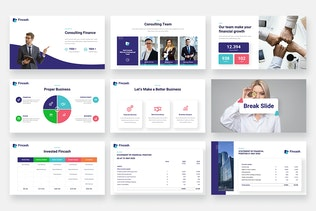 Thumbnail for FINCASH - Finance & Consulting Keynote Template