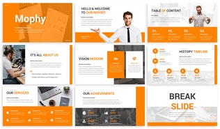 Thumbnail for Mophy - Annual Report Powerpoint Template