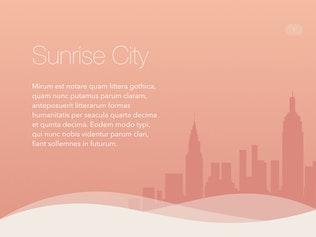 Thumbnail for Sunrise City Keynote Template
