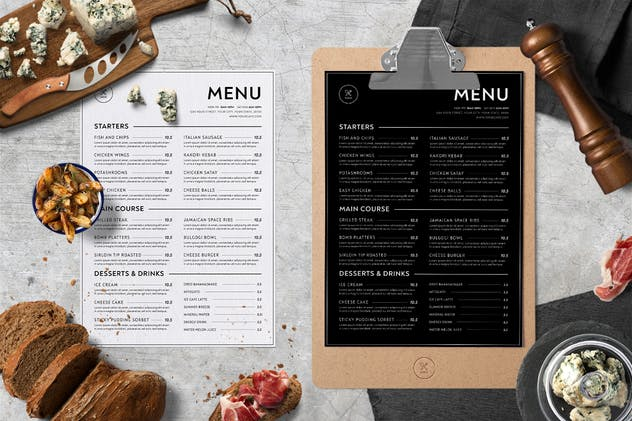 Minimalist Food Menu - product preview 3