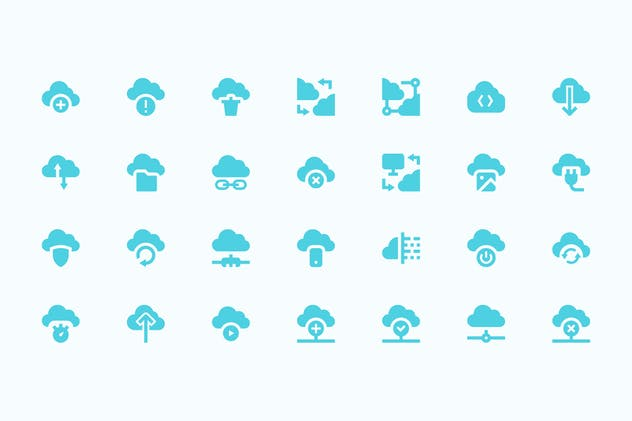 Cloud Technologies Icons - product preview 0