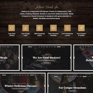 Thumbnail for Steak In - Restaurant & Cafe PSD Template