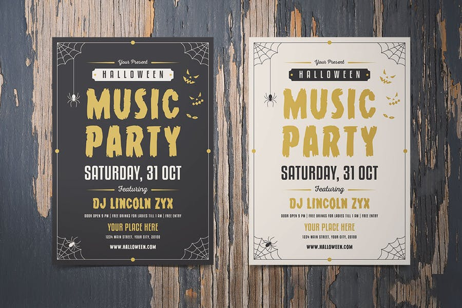 Halloween Music Party Flyer - product preview 1