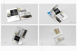 Thumbnail for A4 Magazine Catalog Mockup
