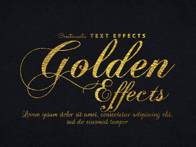 Gold Text Effects 1 - product preview 4