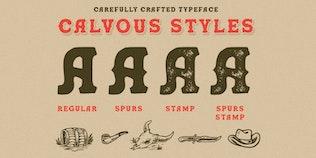 Miniature pour Calvous - Slab Serif Police de caractères
