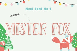 Thumbnail for Forest Creatures Font Trio