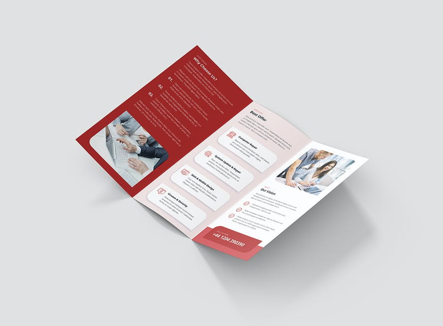 Brochure – IT Services Tri-Fold - product preview 6