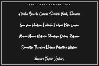 Miniatura para Peacfull | Pincel Script Font