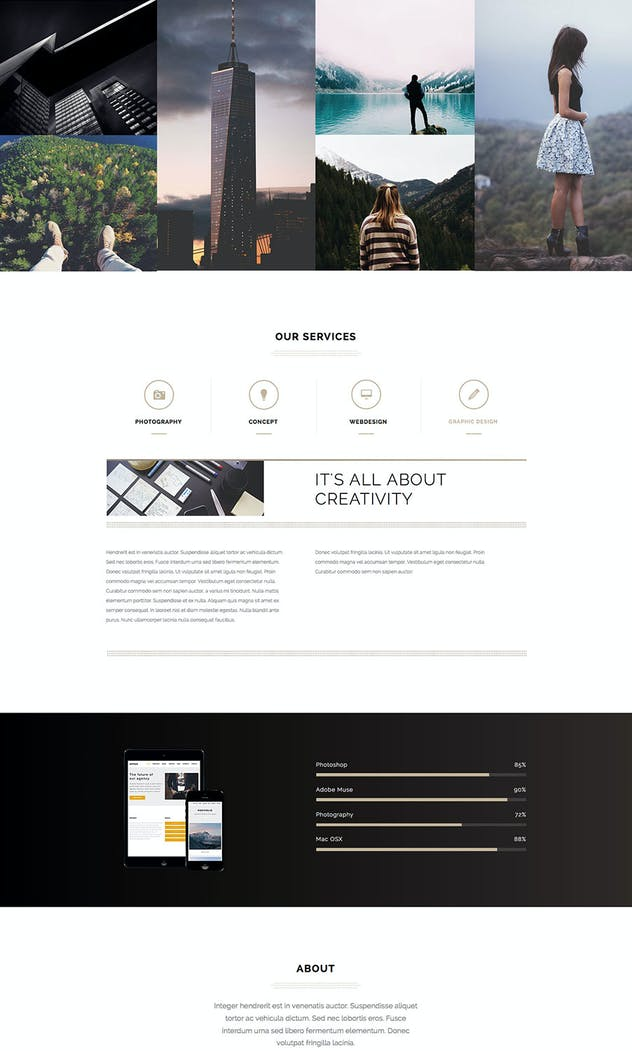 Lumina - Responsive Muse Template for Creatives - product preview 1