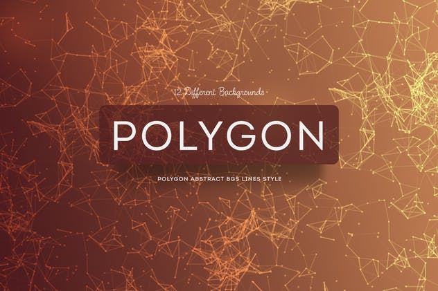Polygon Abstract Backgrounds Lines Style - product preview 1