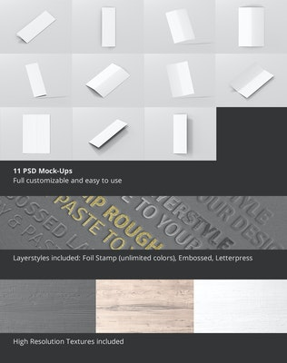 Thumbnail für A5 lange Bi-Fold Broschüre Mock-Up