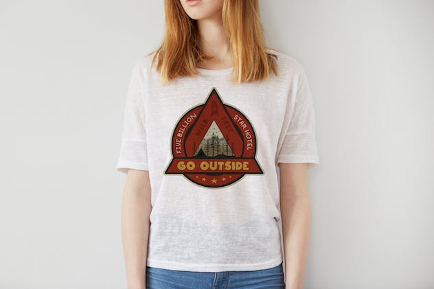 Outdoor Adventure Badge / Vintage Camp Logo Patch - product preview 1