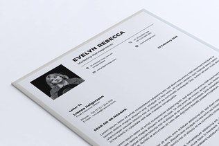 Thumbnail for Minimalist CV Resume Vol. 08