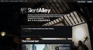 Miniature pour Silent Alley - Responsive Multicolore Tumblr Thème