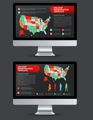 Thumbnail for Map Powerpoint Presentation Template