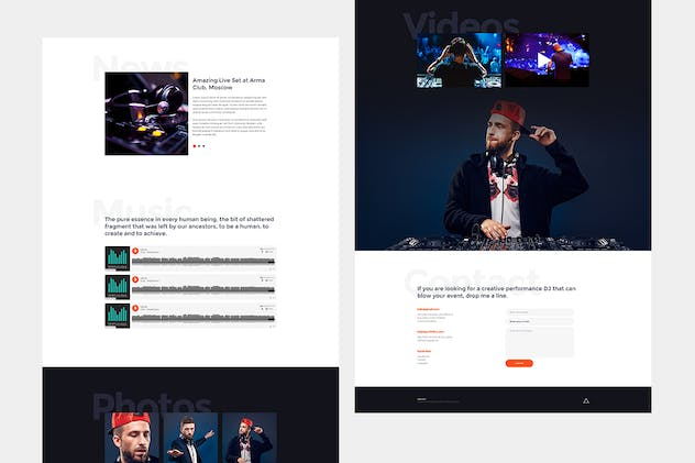 HelloDJ - One Page Site Template for DJ & Producer - product preview 2