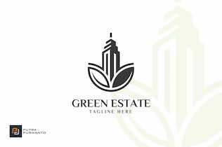 Thumbnail for Green Estate / Building - Logo Template
