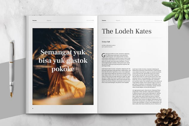 MATAMU - Clean and Minimalist Magazine Template - product preview 2