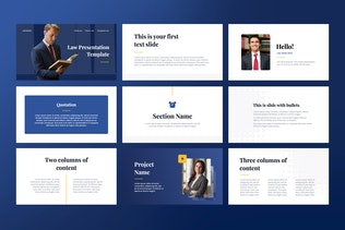 Thumbnail for Law Keynote Template