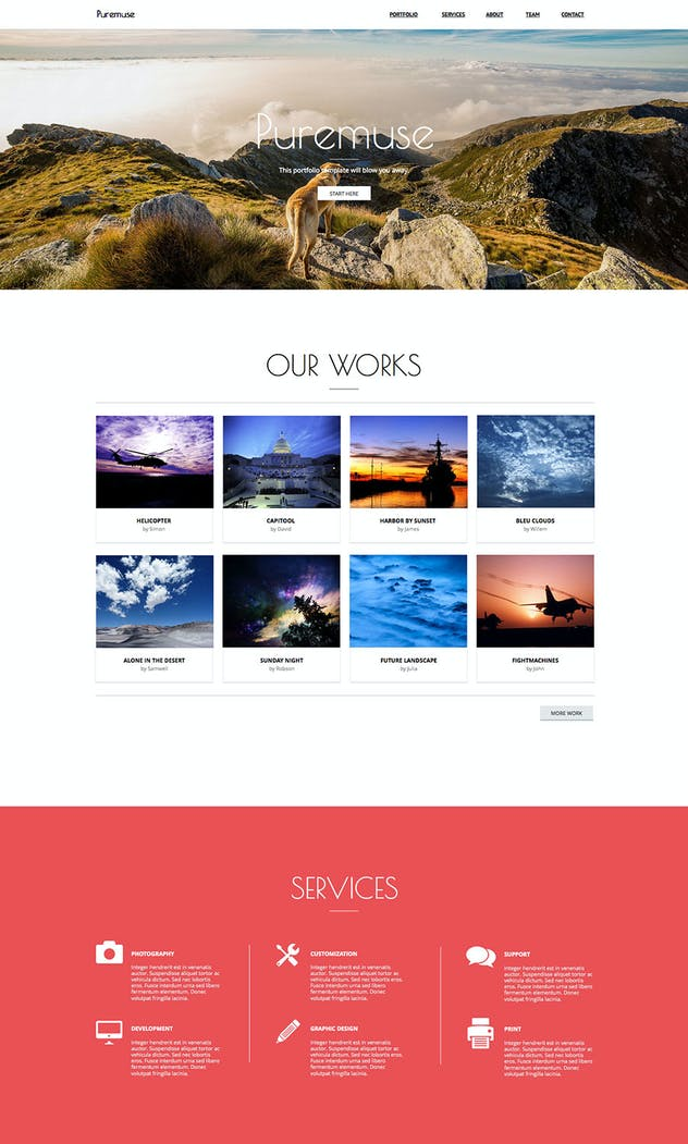 Puremuse - Clean Muse Template for Portfolios - product preview 2