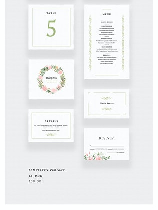 Thumbnail for Flamingo Summer Wedding Invitations