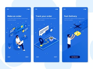 Thumbnail for Modern user interface UX, UI screen template