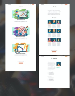 Thumbnail for MARKEZZY - Website XD Template & Illustration Kit