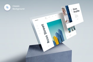 Thumbnail for The Screens 4 - Perspective PSD Mockup Template