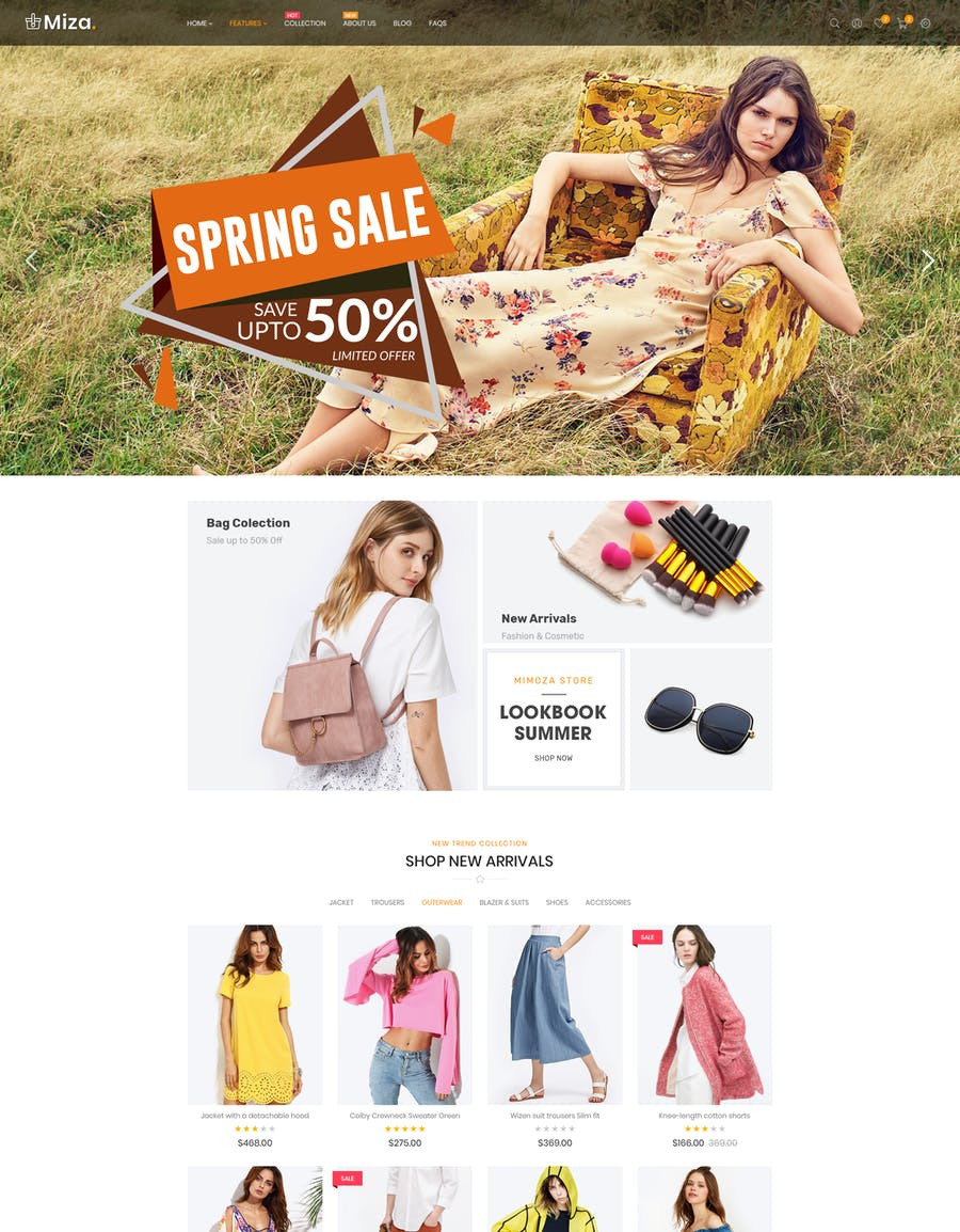 Miza - Fashion Bootstrap 4 Shopify Theme - product preview 3