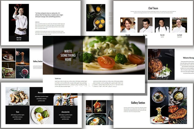 Core - Food & Drink Creative Powerpoint Template