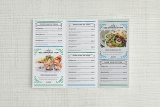 Thumbnail for Seafood Menu Illustrator Template