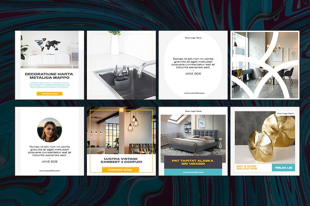 Interior Design Social Media Kit