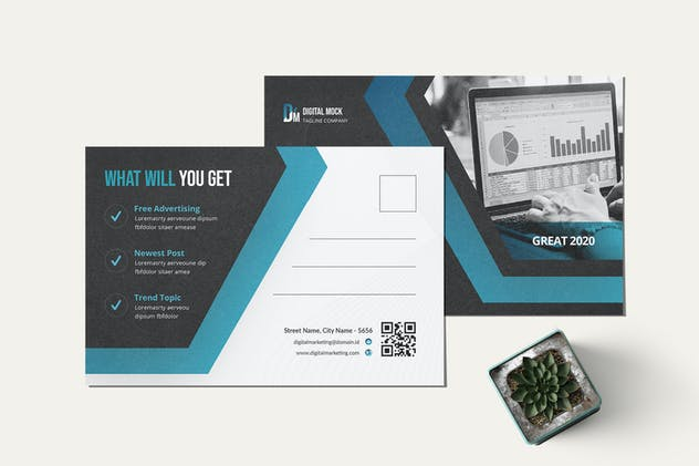 Digital Marketing Postcard - product preview 1