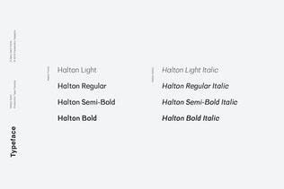Thumbnail for Halton - Modern Sans Serif Typeface