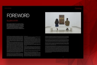 Thumbnail for Art Gallery Exhibition Catalog