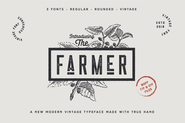 The Farmer Font - Condensed Typeface - product preview 1
