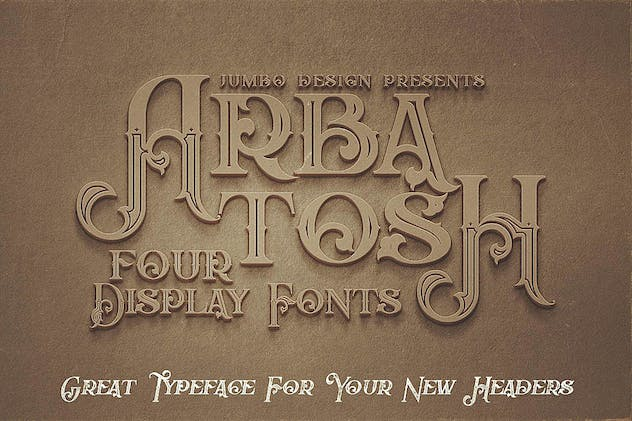 Arbatosh - Display Font - product preview 4