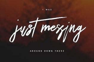 Thumbnail for Dattsy Signature Brush Font