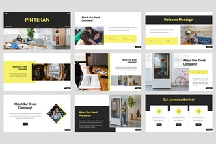 Thumbnail for Pinteran - Company Profile PowerPoint Template