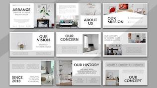 Миниатюра для Упорядочить — Творческий интерьер Google слайд Шаблон
