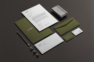 Thumbnail for Corporate Stationery Branding Mockup