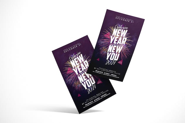 New Year Party Flyer - product preview 1