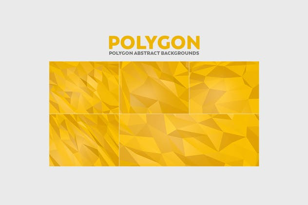 Polygon Abstract Backgrounds - product preview 5