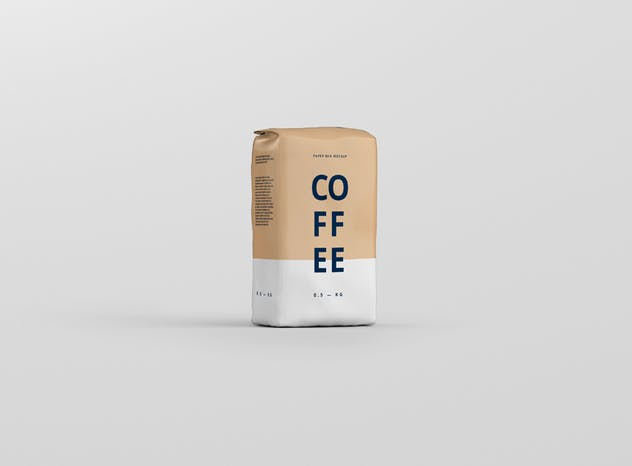 Coffee Paper Bag Mockup - product preview 9
