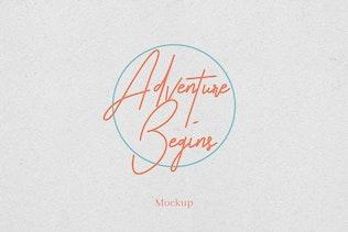 Paper Logo Mockup Vol. 1