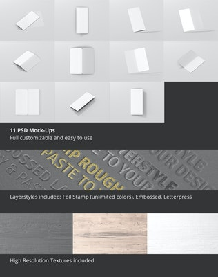 Thumbnail for DL Bi-Fold Brochure Mock-Up - Round Corner