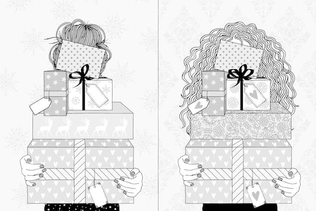 Young Women Holding Gifts